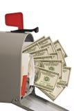 Caixa postal completamente do dinheiro 1 foto de stock