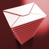 Caixa postal de Inbox da mensagem de email das mostras dos envelopes Foto de Stock Royalty Free