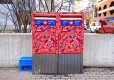 Caixa postal do borne de Canadá Fotos de Stock