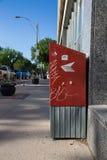 Caixa postal do cargo de Canadá no passeio Foto de Stock