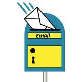 Caixa postal do email Imagens de Stock Royalty Free