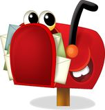 A caixa postal dos desenhos animados - ilustração para as crianças Imagem de Stock Royalty Free
