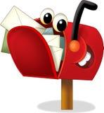 A caixa postal dos desenhos animados - ilustração para as crianças Imagens de Stock Royalty Free