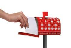 Caixa postal dos Valentim Fotografia de Stock