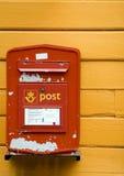 Caixa postal em Noruega Imagens de Stock