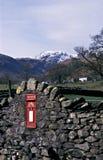 Caixa postal em Patterdale, Cumbria. Fotografia de Stock
