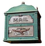 Caixa postal extravagante isolada Fotos de Stock