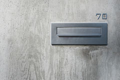 Caixa postal home inoxidável Foto de Stock Royalty Free