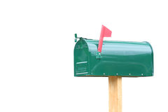 Caixa postal isolada Fotografia de Stock