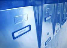 Caixa postal moderna fotografia de stock