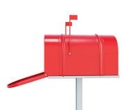 Caixa postal no fundo branco 3d rendem os cilindros de image Ilustração Royalty Free