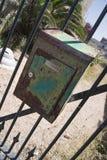 Caixa postal oxidada Imagens de Stock Royalty Free