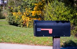 Caixa postal rural fotos de stock royalty free