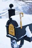 Caixa postal Snow-Covered Imagem de Stock