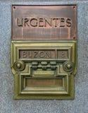 Caixa postal velha no Madri, Espanha foto de stock