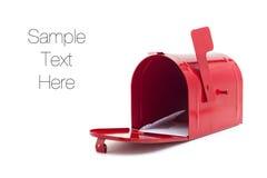 Caixa postal vermelha Fotografia de Stock