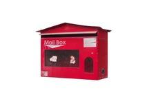 Caixa postal vermelha do estilo antigo Fotografia de Stock Royalty Free