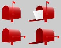 Caixa postal vermelha Vetor Fotos de Stock