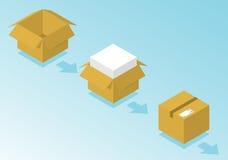 Caixa pronta para o transporte ilustração stock