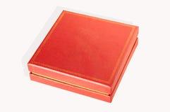 Caixa quadrada vermelha isolada Imagem de Stock Royalty Free