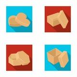 Caixa, recipiente, pacote, e o outro ícone da Web no estilo liso Caso, shell, estrutura, ícones na coleção do grupo Fotografia de Stock