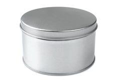 Caixa redonda do metal Fotos de Stock