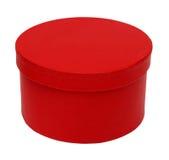 Caixa redonda vermelha fechada imagem de stock royalty free