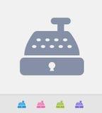 Caixa registadora - ícones do granito ilustração stock