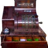 Caixa registadora velha do tempo Fotos de Stock