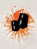 Caixa retro da estrela de Grunge Ilustração Royalty Free