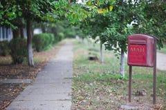 Caixa rural do borne do correio foto de stock