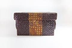Caixa tecida com decoração do Batik Fotografia de Stock Royalty Free