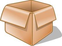 Caixa vazia Foto de Stock