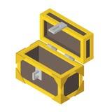 Caixa vazia aberta isométrica Imagens de Stock Royalty Free
