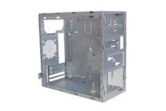 Caixa vazia da torre do computador imagem de stock