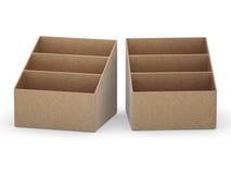 Caixa vazia do suporte do papel de embalagem com trajeto de grampeamento ilustração royalty free