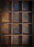Caixa velha com gaiolas Foto de Stock Royalty Free