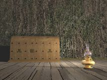 Caixa velha - 3D rendem Imagens de Stock Royalty Free