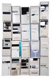 Caixa velha de muitos computadores Imagens de Stock Royalty Free