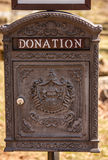 Caixa ornamentado da doação Imagem de Stock Royalty Free