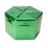 Caixa verde. imagens de stock royalty free