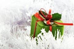 Caixa verde do Natal Imagens de Stock