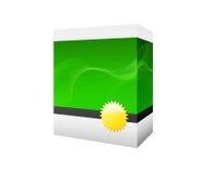 Caixa verde do software Foto de Stock Royalty Free