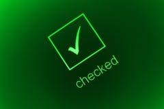 Caixa verific Fotografia de Stock