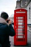Caixa vermelha da foto Fotografia de Stock Royalty Free