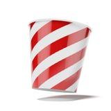 Caixa vermelha da pipoca Fotos de Stock Royalty Free