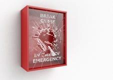 Caixa vermelha da ruptura em caso de urgência ilustração royalty free