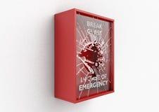 Caixa vermelha da ruptura em caso de urgência ilustração stock