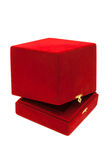 Caixa vermelha de veludo Imagem de Stock