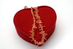 Caixa vermelha do coração Imagens de Stock